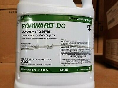 Johnson Diversey Forward DC Disinfectant Cleaner 4 Gallon Case  04545