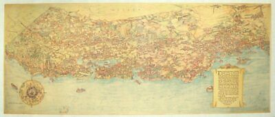 CALIFORNIA BIRD'S EYE VIEW / This pictorial map portrays California's Signed