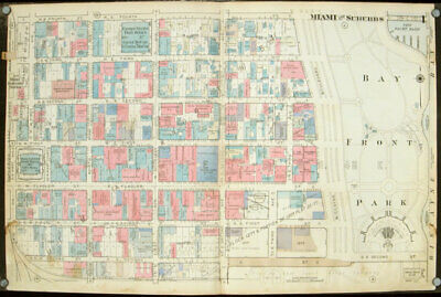 FLORIDA MIAMI / Miami and Suburbs Central city area Maps 1 5 from Plat Book