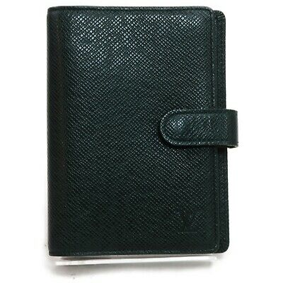Louis Vuitton Diary Cover Agenda PM R20406 Greens Taiga 910021