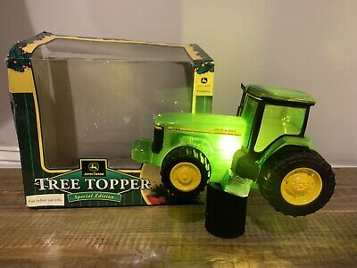 JOHN DEERE Tractor Christmas Tree Topper Holiday Works Special Edition #42001