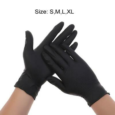 100pcs Disposable Powder Free Cleaning Nitrile Gloves Work Safety Gloves Black