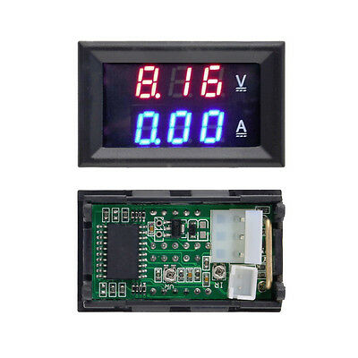 Home DC 100V 10A Voltmeter Ammeter LED Gauge Dual Voltage Current Meter