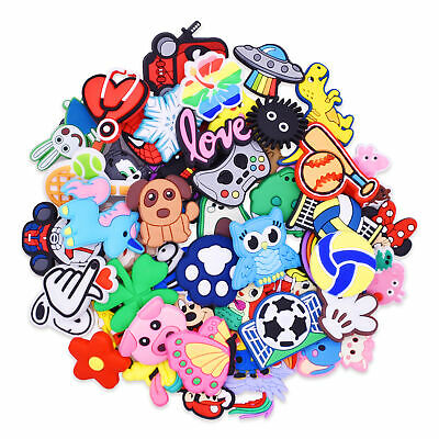 PVC Shoe Accessories Birthday Gift Supply 50PCS fit Bracelets/Sandals/Bag