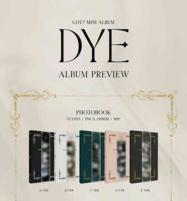 GOT7 - DYE (MINI ALBUM) KPOP NEW SEALED + PREORDER BENEFITS (random ver.)+POSTER