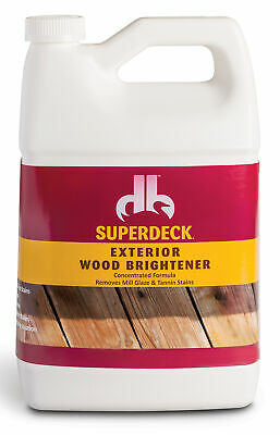 Superdeck Db0014504-16 1 Gallon Exterior Wood Brightener Concentrate (Pack Of 4)