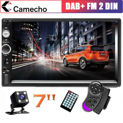 "7"" Doppel Autoradio Stereo Bluetooth USB FM AUX IN 2Din MP3 MP5 Player + Kamera"