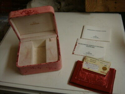Vintage Omega watch box and papers/ card