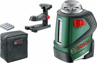 Bosch PLL 360 Cross Line Laser Featuring 360 Degrees Horizontal Function