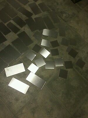 """30 piece lot 304 316 Stainless steel scrap  24 gage Plate various sizes 2"""" to 6"""""""