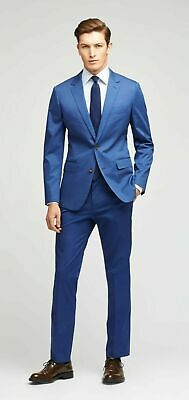 Bonobos Jetsetter Stretch Italian Suit Jacket & Pants BLUE 38R SLIM FIT 33 x 37