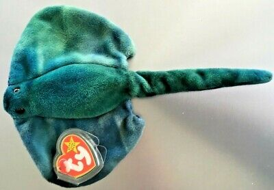 Ty Beanie Baby ~ STING the Stingray ~ Mint Condition MWMT Babies