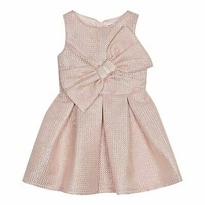 baker by ted baker girls light pink sparkle party dress age 5-6 yrs new with tag