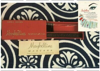 Vintage Maybelline Superior Cake Mascara Compact Collectible New Sable Brown