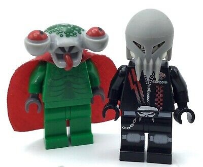 LEGO LOT OF 2 SPACE POLICE THREE MINIFIGURES SQUIDZILLA ALIEN TWIN FIGS