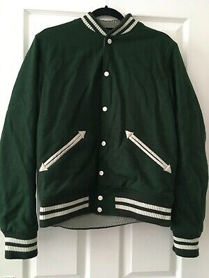 H&M men's green baseball/varsity jacket, used but in great condition!