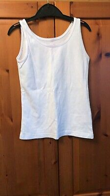 Girls Age 6-7 Years Primark White Sleeveless Vest Style Top