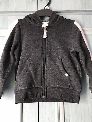 BNWT Girls Toddler H&M Grey And Pink zip up hoodie, 1.5 - 2 years
