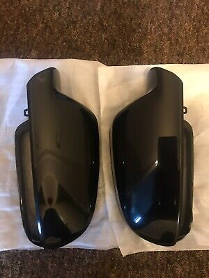 L&R Side Black Wing Mirror Covers Fit For AUDI A4 S4 B9 8W (16-21) A5 S5 (17-22)