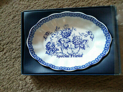 Spode Blue Room Collection Tree Trinket Dish Special  Friend  Bnib Gift Xmas