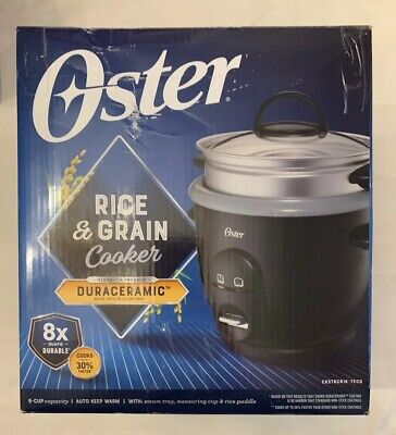 6 Cup Rice Cooker - Oster DuraCeramic Appliance - Black - Pre-Owned