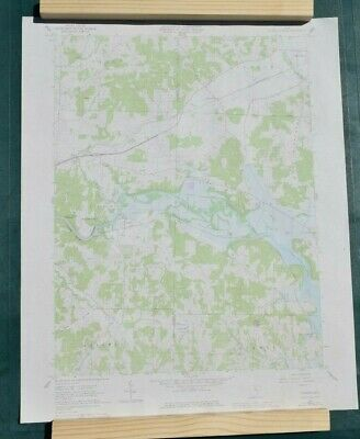 USGS Topography Map; Vintage Map; Toboso, Hanover, OH Licking County; ~27 x 22in