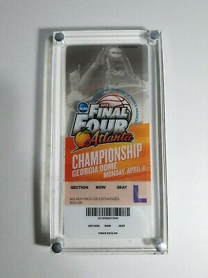 Ncaa 2013 Mens Basketball Final Four Championship Ticket - Sealed In Glass