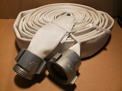 "Fire Hose, 1-1/2"" x 50', Aluminum NST Fittings"