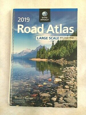 2019 Rand McNally Large Scale Road Atlas USA 264 Pages Spiral-bound