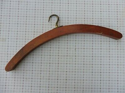 Vintage 1920's era clothes hanger with revolving brass fitting