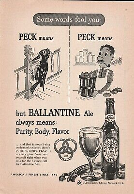 1946 ad some words fool you Ballantine Ale always means Purity Body Flavor