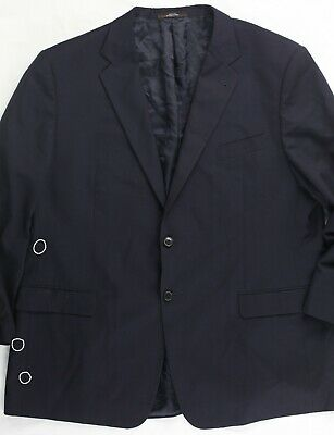 Joseph Abboud Collection Navy Blue Blazer Sport Coat Wool Made in USA 50L