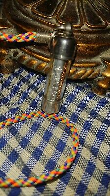 Thai amulet necklace 3 sacred metal scroll