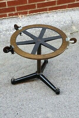 Antique Force Table Scientific Measuring tool Cast Iron Legs Feet coffee table