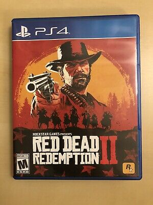 PS4 RED DEAD REDEMPTION 2 II Complete with Map - Free Ship - Excellent condition