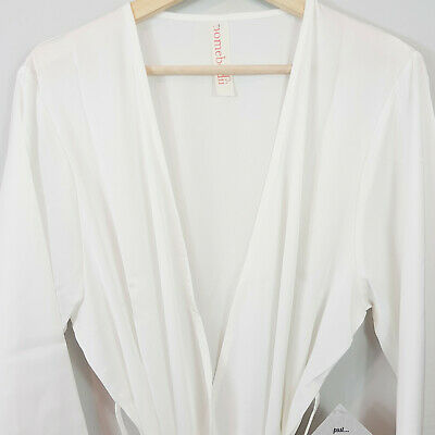 [ HOMEBODII ] Womens Ivory Robe NEW | Size L or AU 12 - 14 or US 8 - 10