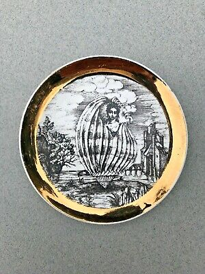 Signed Fornasetti Milano Italy 4-Inch Mid Century Modern Porcelain Coaster