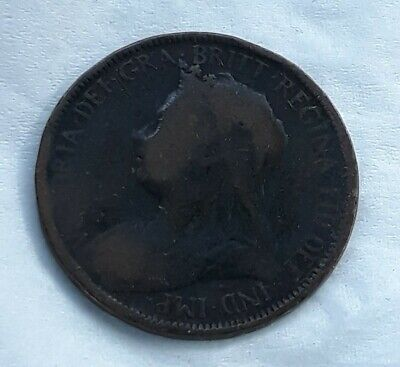 1900 Bronze Half Pence UK Half Penny Britain Coin Halfpenny Extra Fine XF