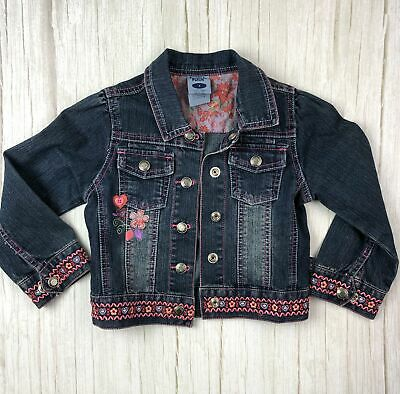 Pumpkin Patch Embroidered Girls Denim Jacket - Size 4