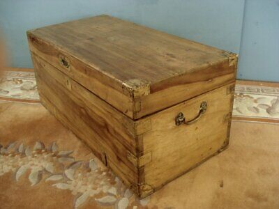 Smaller Solid 19th Century Camphor wood trunk / blanket chest