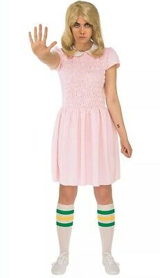 Official Womens Stranger Things Eleven Halloween Fancy Dress Costume Extra Small