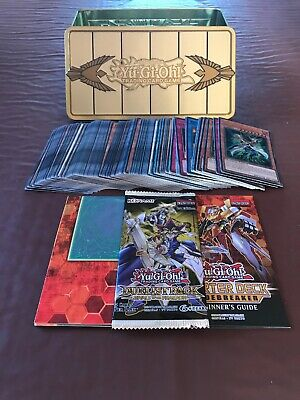 Yu-Gi-Oh Gold Sarcophagus Tin + 100 Cards Inc. 20 Holo/Rare + Booster Pack +More