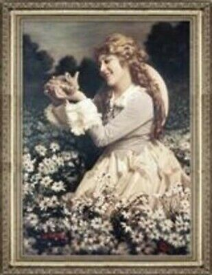 Victorian Trading Co Mary Pickford Woman with Bunny Un Framed Print