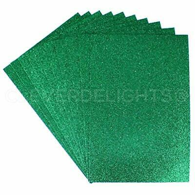 "10 Pack - CleverDelights 8"" x 12"" Glitter Foam Sheets - Green - Large Self Ad#77"