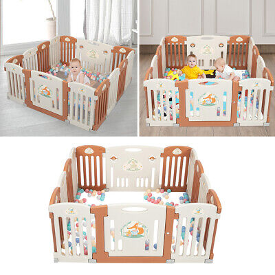 Baby Playpen 14 Panel Kids Safety Fence Play Center Yard Fordable Indoor Outdoor