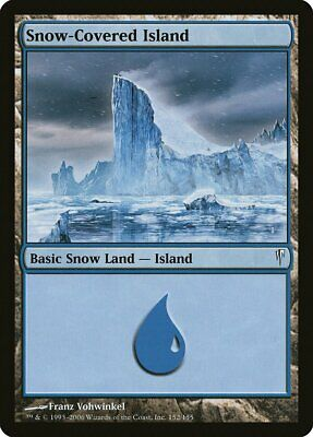 MTG Coldsnap Snow-Covered Mountain 4x Near Mint