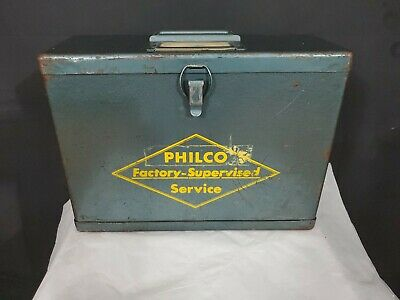 Vintage Philco Metal Service Box