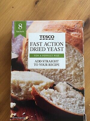 TESCO 8 X 7gm Sachets of DRIED yeast for bread making