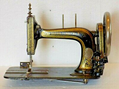Harris Family Sewing Machine Not Singer Hand Crank Antique Collectible