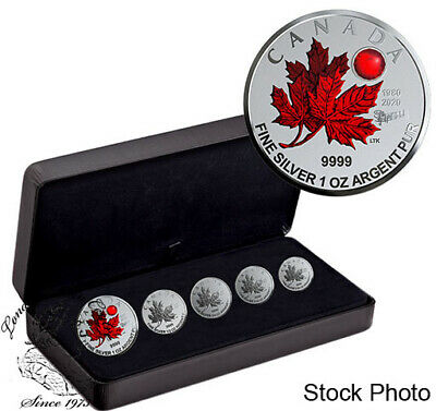 Canada 2020 5 Coin Maple Leaf - O Canada Pure Silver Fractional Set